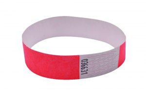 Announce Wrist Bands 19mm Coral (Pack of 1000)