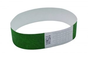 Announce Wrist Bands 19mm Green (Pack of 1000)