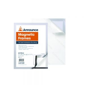 Announce Magnetic Frames A4 Silver (Pack of 2)