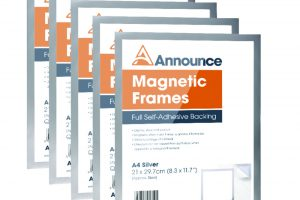 Announce Magnetic Frames A4 Silver (Pack of 5)