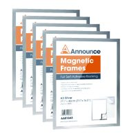 Announce Magnetic Frames A3 Silver (Pack of 5)