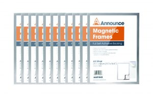 Announce Magnetic Frames A3 Silver (Pack of 10)