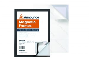 Announce Magnetic Frames A4 Black (Pack of 2)