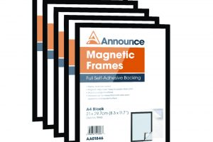Announce Magnetic Frames A4 Black (Pack of 5)