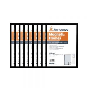 Announce Magnetic Frames A3 Black (Pack of 10)