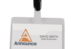 Announce Security Name Badge 60x90mm (Pack of 25)