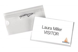 Announce Pin Name Badge 40x75mm (Pack of 100)