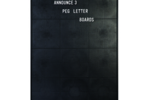 Announce Peg Letter Board 463 x 615mm